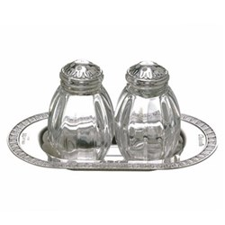 Salt and pepper set on tray
