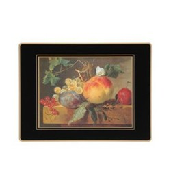 Traditional Range - 17th Century Still Life Set of 4 placemats, 30 x 22cm, black