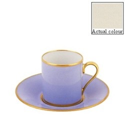 Sous le Soleil Coffee cup and saucer straight sided, 9cl, ivory with classic matt gold band