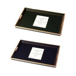 Screened Range Wedding Invitation tray with glass base, 55 x 40cm, regal red