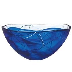 Contrast Bowl, 35cm, blue