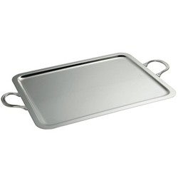 Rectangular serving tray with handles 42 x 32cm
