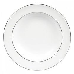 Vera Wang - Blanc sur Blanc Rim soup plate, 23cm