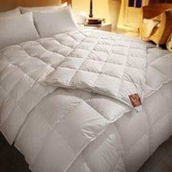 The Crystal Double duvet 4 tog, 200 x 200cm, premier new white Hungarian goose down