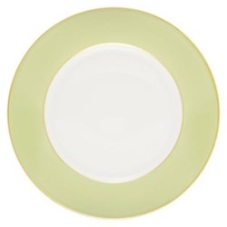 Sous le Soleil Dessert plate, 22cm, pastel green with classic matt gold band