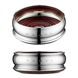 Bellied Wine coaster, 10.2cm, sterling silver