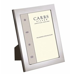 """Flat Series Photograph frame, 7 x 5"""", sterling silver with mahogany finish back"""