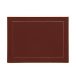 Screened Range Set of 4 continental placemats with frame line, 39 x 29cm, regal red