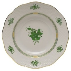 Apponyi Soup plate, 24 x 4.5cm, green