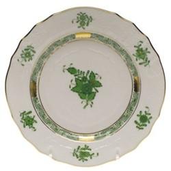Apponyi Side plate, 16.5 x 1.8cm, green
