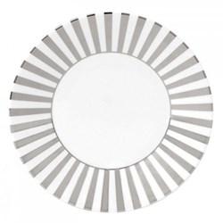 Platinum Plate, 23cm, striped