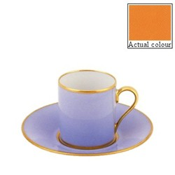 Sous le Soleil Coffee cup and saucer straight sided, 9cl, sunflower with classic matt gold band