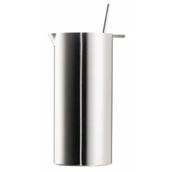 Arne Jacobsen Martini mixer with mixer spoon, 1 litre - H19 x W8.5cm, satin stainless steel