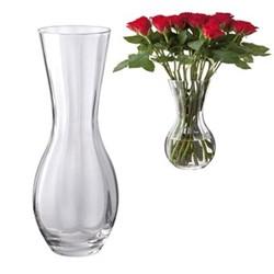 Florabundance Rose vase, H31cm, clear
