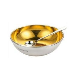 Open salt/pepper dish, steling silver with gilt inner