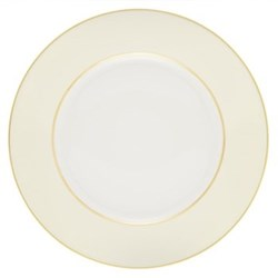 Sous le Soleil Cake plate, 18cm, ivory with classic matt gold band