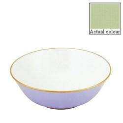 Sous le Soleil Open vegetable dish/salad bowl, 25cm, pastel green with classic matt gold band