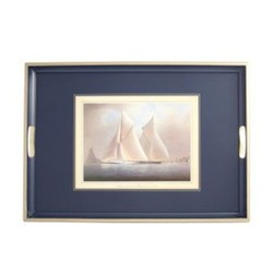 Traditional Range - Racing Yachts Traditional tray, 55 x 39.5cm, Oxford blue