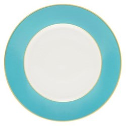 Sous le Soleil Dinner plate, 26.5cm, turquoise with classic matt gold band