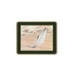 Traditional Range - Game Fish Set of 6 coasters, 11 x 9cm, bottle green