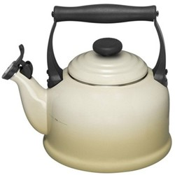 Traditional Kettle with whistle, 2.1 litre, almond