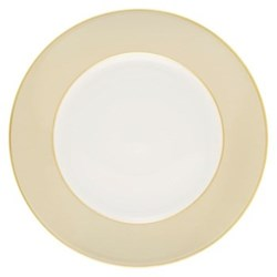 Sous le Soleil Dinner plate, 26.5cm, mastic with classic matt gold band
