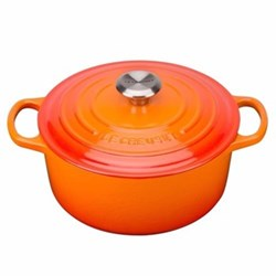 Signature Cast Iron Round casserole, 22 x 9.5cm - 3.3 litre, volcanic