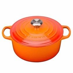 Signature Cast Iron Round casserole, 26 x 10cm - 5.3 litre, volcanic