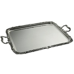 Regence Rectangular serving tray, 57 x 48cm, with applied border and handles