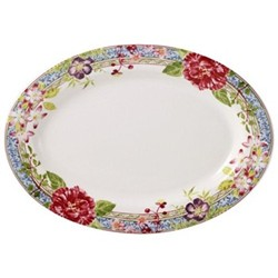 Millefleurs Oval platter, 37 x 26cm