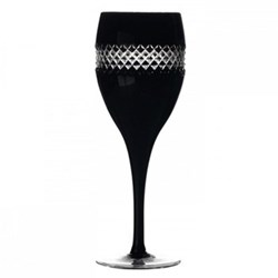 John Rocha - Black Cut Pair of red wine glasses