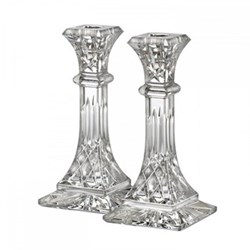 Lismore Pair of candlesticks, 8""