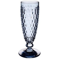 Boston Coloured Champagne flute, 16.3cm, blue