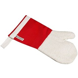 """Textiles Oven mitt with storage magnet, 14"""", red"""