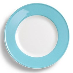 Solid Colour Plate with rim, 26cm, sky blue