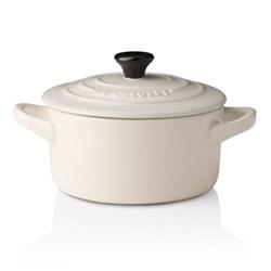 Stoneware Petite round casserole, 9 x 5cm - 25cl, almond