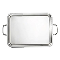 Elite Rectangular tray with handles, 50 x 38cm, stainless steel