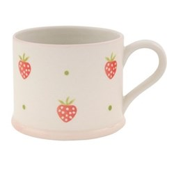 Strawberry Mug straight sided, 8cm