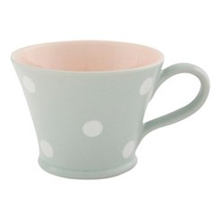 White Spot Mug conical, 8cm, blue