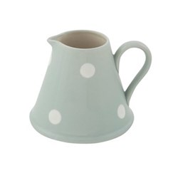 White Spot Mini pitcher, 200mil/8.5cm, blue