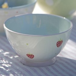 Strawberry French bowl, 14cm