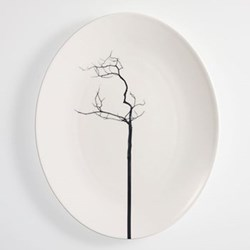 Black Forest - Pure Oval platter, 32cm, fine bone china