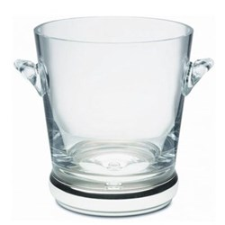Ice bucket with silver base