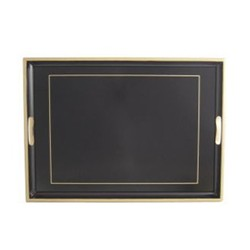 Screened Range Traditional tray with frame line, 55 x 39.5cm, black