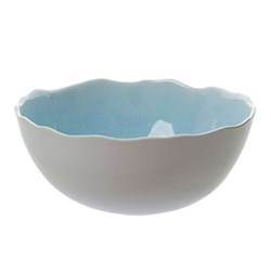 Plume Salad bowl, 28cm, ocean blue