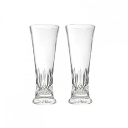Pair of pilsner glasses 21.5cm