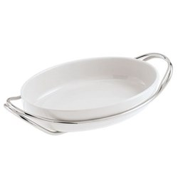 Oval serving dish 35cm