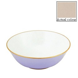 Sous le Soleil Open vegetable dish/salad bowl, 25cm, mastic with classic matt gold band