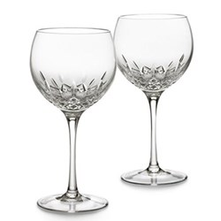 Lismore Essence Pair of balloon wine glasses