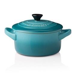 Stoneware Petite round casserole, 9 x 5cm - 25cl, teal